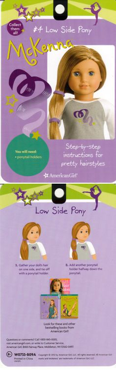 american girl hair style low pony