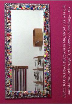 Artesanato. Faço por encomenda e envio para todo Brasil.  ☎️(31) 9 9312-8877   #artesanato #criatividade #trabalhomanual #casa #objeto #enfeite #ornamentação #adereço #acessorio #quadro #parede #rustico #moldura #decoracao #espelho