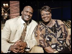 NBA legend Shaquille O'Neal was primarily raised by his mother, Lucille O'Neal. O'Neal was born in Newark, New Jersey, and grew up estranged from his biological father, Joseph Toney. Toney struggled with drug addiction. His mother worked hard to raise her son on her own and later married Phillip A. Harrison, a career Army Reserve sergeant, who stepped in to help raise the basketball star. Shaquille has a net worth of $250 million.
