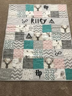 Harry Potter baby blanket Harry Potter baby blanket – Related posts: DIY Patchwork Baby Blanket – 2 Hour Sewing Project Diy Baby Blanket Pom Pom 36 Ideas For 2019 Animal Alphabet Baby Quilt