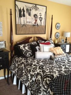 Black And White Bedroom With Gray Headboard Transitional Bedroom likewise Green Accent Wall Bedroom further Bedroom With Black Walls as well Black And White Bedroom Wall Ideas further Grey Bedding With Accent Walls. on black and white bedroom accent wall