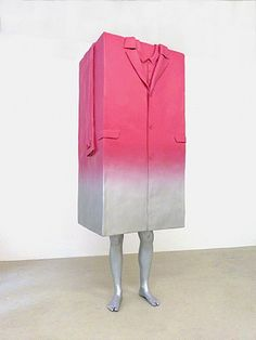 Erwin #Wurm, Big #Coat. Aluminum and paint #sculpture from 'I am Erwin Wurm' exhibition at Galleri Bo Bjerggaard, Copenhagen.