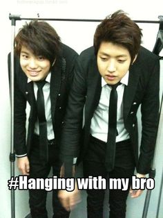 #Infinite  #SungJong  #SungYeol  Just hangin' with my bro ;) -These two are so adorable