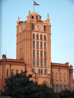 This building is located in the downtown of Tabriz in the famous clock (Sa'at) square. This structure was constructed in the year 1933 AD. under German supervision before. Iran Today, High Building, Building Design, Ancient Persian, Persian Culture, Interesting Buildings, Famous Places, Historical Sites, Facade