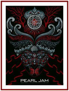 Pearl Jam Stockholm Sweden Summer 2014 Gig Poster - Todd Slater