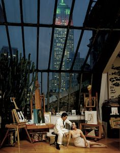 Isabel Toledo's New York Apartment and Studio. Look at that view! photo: Jason Schmidt Haha yeah I'm dreaming