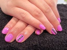 Gelish Tokyo a Go Go with stripe/spot accent nail