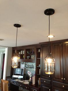 SET OF THREE , mason jar lights,Single Drop Chandeliers, Industrial Design