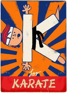 K for Karate by Paul Thurlby, via Flickr