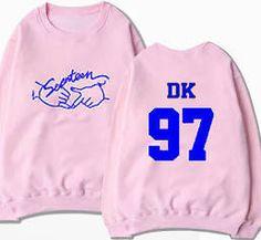 Kpop Seventeen Sweater Unisex Shining Diamond Pink Hoodie Pullover
