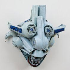 Wind Mask, Willie Cole, sèche-cheveux, 1991