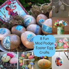 8 Mod Podge Easter Egg crafts