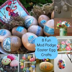 8 Mod Podge Easter Egg crafts