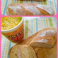 休みなので酵母修行(^-^; クープがひらかなーい!!( ノД`)… パンの味見を兼ねてランチ。 チーズポタージュヌードルは、スープパスタと思って食べるといいかも(^o^;) パンとも合う(*^^*) - 101件のもぐもぐ - 自家製酵母の全粒粉パンとチーズポタージュヌードルでランチ by megupyon