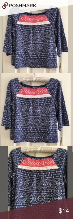 Lucky Brand Top Size S New with Tags Lucky Brand Top Size S New with Tags Lucky Brand Shirts & Tops Tees - Long Sleeve