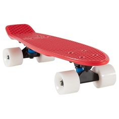 SKATE CRUISER YAMBA ROUGE OXELO - Skateboard Roller, skate, trottinette -...