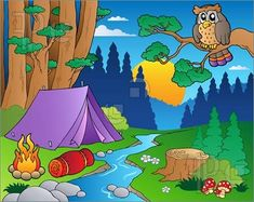 Illustration about Cartoon forest landscape 5 - illustration. Illustration of graphic, drawing, illustration - 20082956 Old Board Games, Vintage Board Games, Game Boards, Family Boards, Family Board Games, Scouts, Exploration, Stock Foto, Forest Landscape