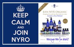 You can start your own NYRO Business for only $99.00  For a Limited Time! Join me on this journey and Make a Difference while Earning an income with NYR Organic USA! United States, Hawaii and Alaska! Consultant Kit comes with a FREE Website!  Click here to learn more  ==>> https://us.nyrorganic.com/shop/face2face/area/become-a-consultant/  Beth Camille Byram  Independent Consultant  Certified Organic Products!  email: face2face@cox.net  Cell / Text: 949-632-6171