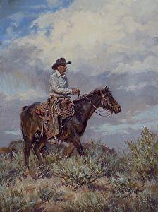 Monsoons Rising by artist Shawn Cameron. #westernart found on the FASO Daily Art Show - http://dailyartshow.faso.com