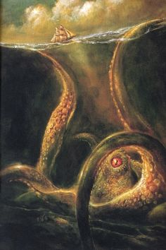 Below the thunders of the upper deep; Far far beneath in the abysmal sea, His ancient, dreamless, uninvaded sleep The Kraken sleepeth...