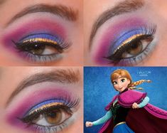 Disney Frozen Anna Inspired Makeup