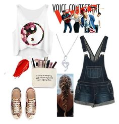 """Untitled #106"" by love-little-mix ❤ liked on Polyvore featuring Paige Denim, Gucci, BERRICLE, Urban Decay, thevoice and YahooView"