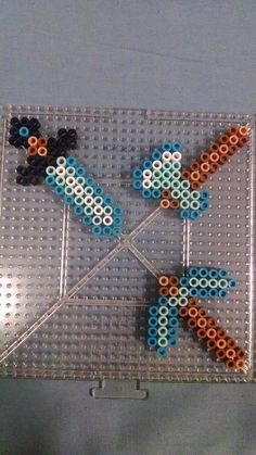 Minecraft Tool Set Diamond perler beads by swimmingangel on deviantART