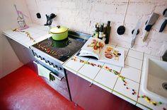 confetti in the kitchen
