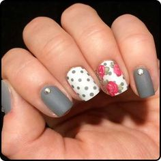 Spring Gray Nail Designs Pictures 2017