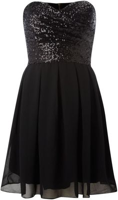 Black sequin dress. So pretty!  pretty sure i have this pinned in every color
