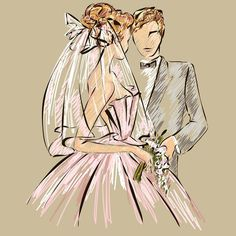 #fashionillustration #fashionsketch #wedding