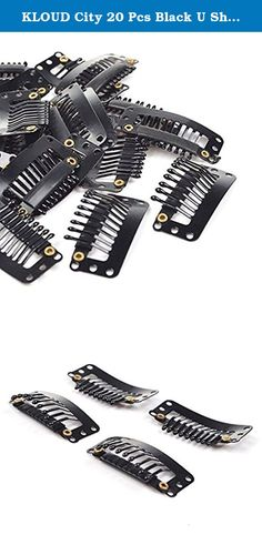 KLOUD City 20 Pcs Black U Shape Metal Snap Clips/ Wig Clips/ Hairpiece Clips for for Hair Extensions DIY. This product is sold Kloud City and is fulfilled by Amazon.