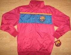 FC Barcelona Soccer Track Jacket Warm Up Fifth Sun. $32.99