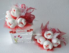 ferrero rocher raffaello flowers roses red white box gift idea present valentines day mothers day birthday romantic