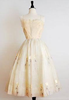 Vintage 1950s HOLLAND AFFAIR Formal Dress by maryann *dream prom dress*