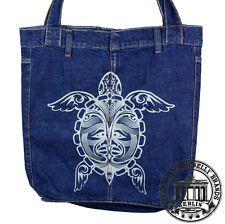 94ac79e9b6299 TURTLE SCHILDKRÖTE Jeans Denim Shopping Bag Marionelli Tasche Stofftasche