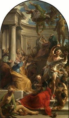The Athenaeum - The Fall of Simon Magus (Pompeo Batoni - )