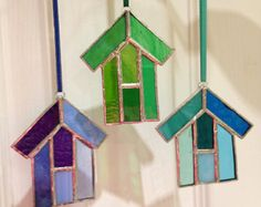 Stained glass Beach Hut