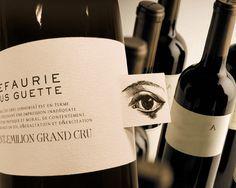 L'EFAURIE - Saint-Emilion Grand cru wine label design by agnes deslandes, via Behance