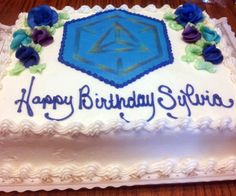 Not a design you see at your everyday bakery. Check out this Ingress themed birthday cake. For more search in pics, visit: http://selnd.com/18YrFVC #tech
