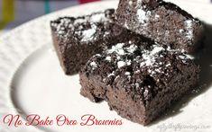 No Bake Oreo Brownies SO EASY!
