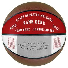 Red White Basketball Gifts for Coaches Players - tap/click to get yours right now!  #basketball #coach #basketball #coaches #basketball Basketball Store, Basketball Party, Basketball Gifts, Basketball Coach, Basketball Players, Team Pictures, Team Photos, Team Coaching, A Team