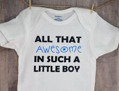 All That Awesome In Such A Little Boy Onesie Baby Shower Gift Infant Toddler Boy   Clothing, Shoes & Accessories, Baby & Toddler Clothing, Unisex Clothing (Newborn-5T)   eBay!
