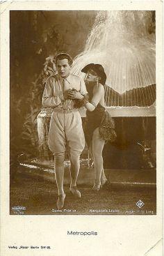 Gustav Fröhlich and Margarete Lanner in Metropolis. German postcard by Ross Verlag, Berlin, no. 71/10. Photo: Ufa / Parufamet. Publicity still for Metropolis (Fritz Lang, 1927). Collection: Didier Hanson.