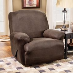 Sure Fit Slipcovers Stretch Faux Leather Recliner Slipcover | ATG Stores