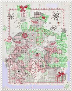 Punto croce - Schemi Gratis e Tutorial: Buon Natale a tutti con questo bellissimo schema a punto croce