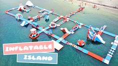 Wanna try an awesome water activity? Head on the Subic, Olongapo, Philippines' newest Inflatable Island — Asia's BIGGEST floating playground! #waterpark