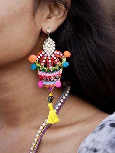 Crochet earrings - Fanny Bostrom for Pencey