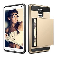 Plastic Armor Phone Case for Samsung Galaxy S4 S5 S6 S7 Edge J5 J7 A5 A7 Grand Prime Credit Card Holder Slide Wallet Cover Case