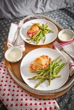 """... Egg Casserole for Two + Asparagus """"Fries"""" with a Simple Aioli"""